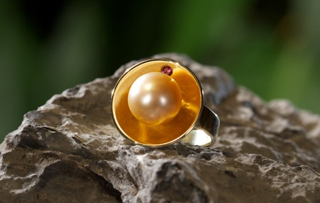 Ring gold mit Perle
